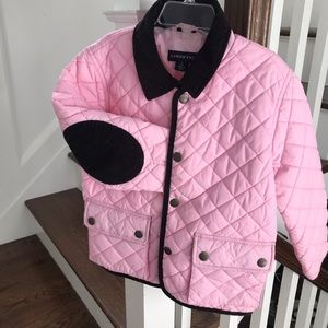 Lands' End Girls Quilted Barn Jacket